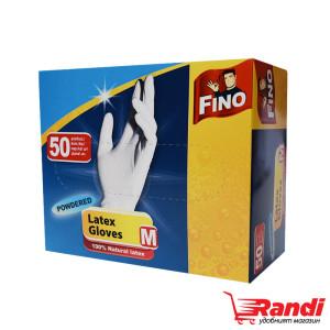 Латексови ръкавици размер-M Fino 50бр.