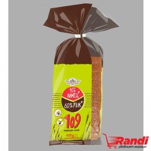 Хляб 40% Лимец 60% ръж 109 Елиаз 400гр.