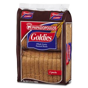 Пълнозърнести сухари Goldies 160гр.
