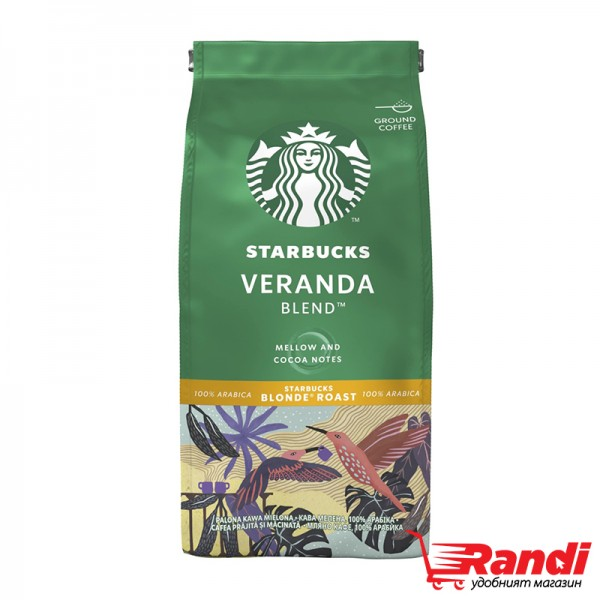 Кафе мляно Starbucks Veranda Blend Blonde Roast 200гр.