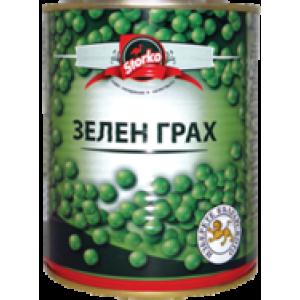 Зелен грах стерилизиран Storko 850мл. консерва