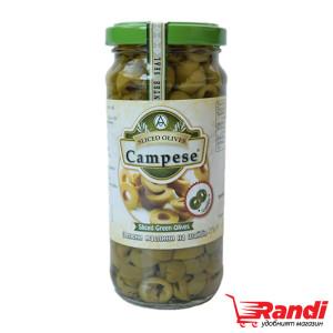 Зелени маслини на шайби Campese 235гр.