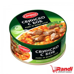 Свинско с боб Компас 300гр.