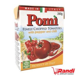 Фино нарязани домати с пипер и чили Pomi 390гр.