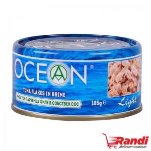 Риба тон парченца филе в собствен сос Ocean 185гр.