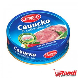 Свинско в собствен сос Компас 180гр.
