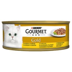 Gourmet Gold говеждо и пиле 85гр.
