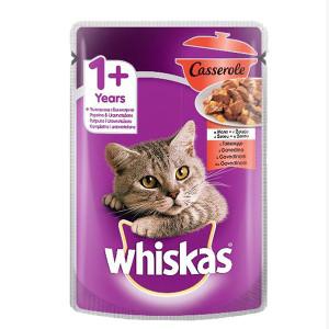 Храна за котки с говеждо месо Casserole Whiskas 85гр.