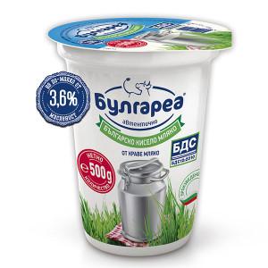 Кисело мляко Булгареа 3,6% 500гр. БДС