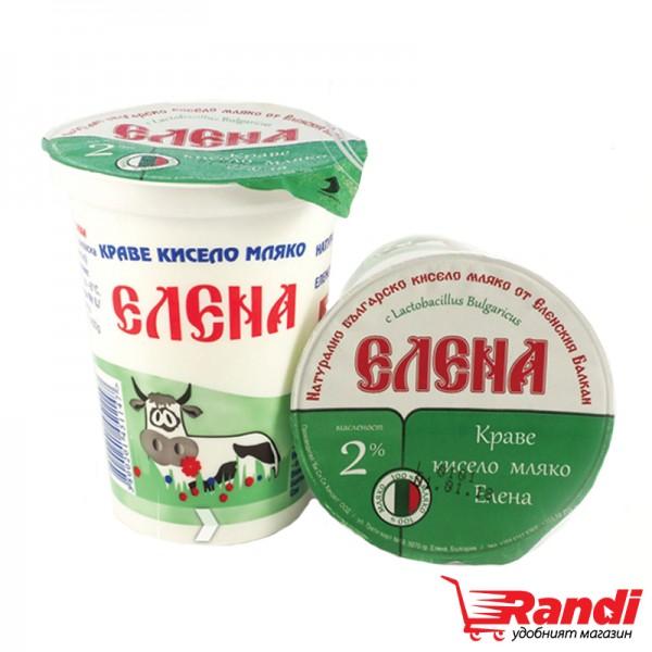 Кисело мляко Елена 2% 400гр.