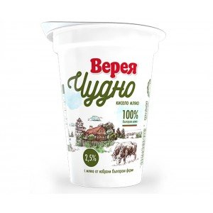 Кисело мляко Верея Чудно 2,5% 400гр.