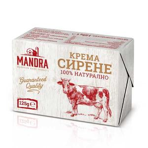 Крема сирене Mandra 125гр.