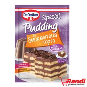 Пудинг Dr.Oetker Special за бисквитена торта шоколад 90гр.
