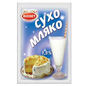 Сухо обезмаслено мляко Биосет 1.5% 50гр.
