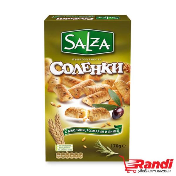 Соленки с вкус на маслини, розмарин и лимец Salza 170гр.