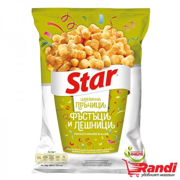Царевичен снакс Star с вкус на фъстъци и лешници  79гр.