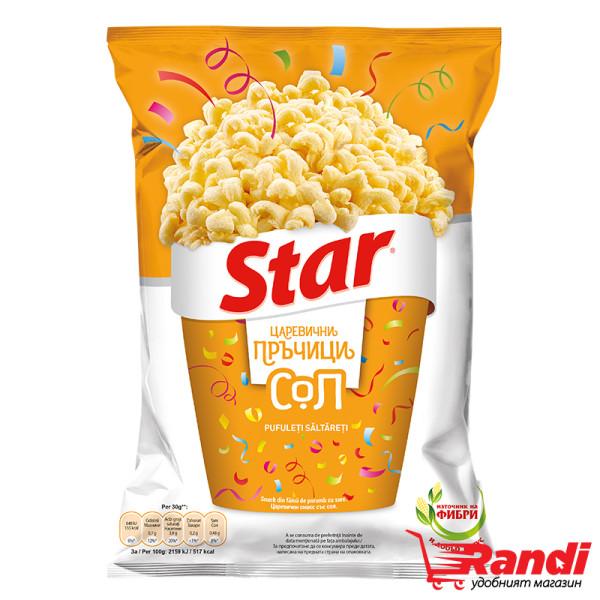 Царевичен снакс Star с вкус на йодирана сол 65гр.