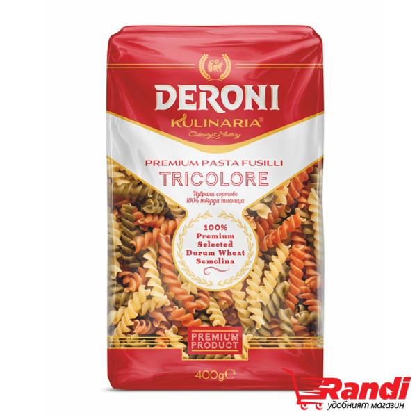 Макарони Kulinaria фусили цветни Дерони 400гр.