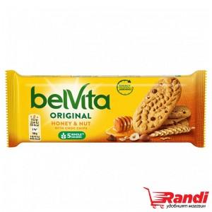 Пълнозърнести бисквити Belvita лешници и мед 50гр.