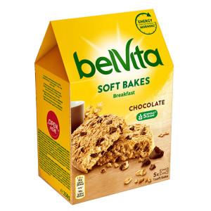 Пълнозърнести бисквити Belvita Soft шоколад 250гр.