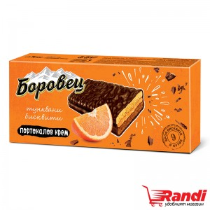 Тунквани бисквити Боровец с портокалов крем 252гр.