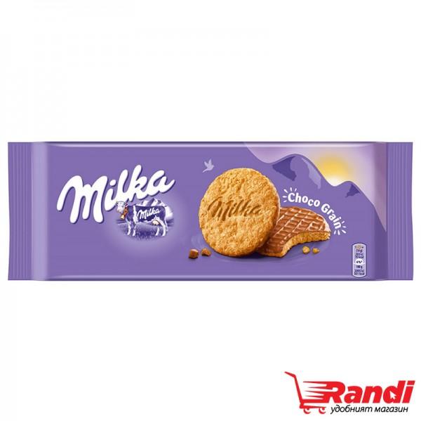 Бисквити Milka Choco Grain пълнозърнести 126гр.