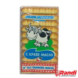 Обикновени бисквити с краве масло БЕЗ ПАЛМОВО МАСЛО Кристал 130гр.