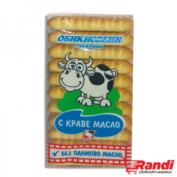 Обикновени бисквити с краве масло Кристал 130гр.