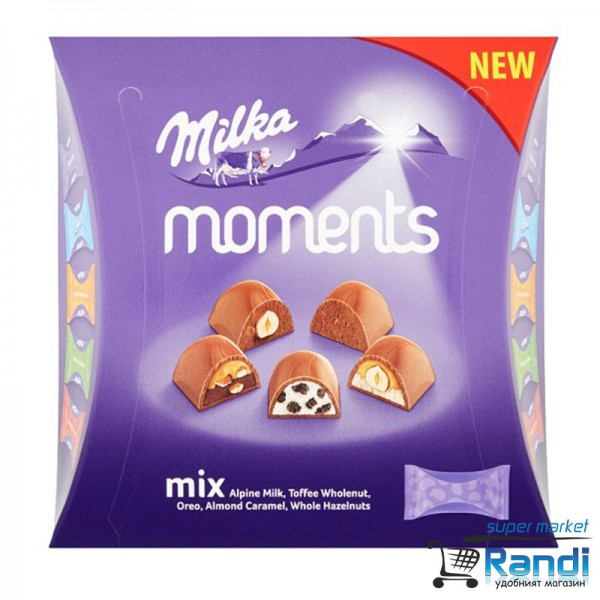 Бонбони MIlka Moments Mix 169гр.