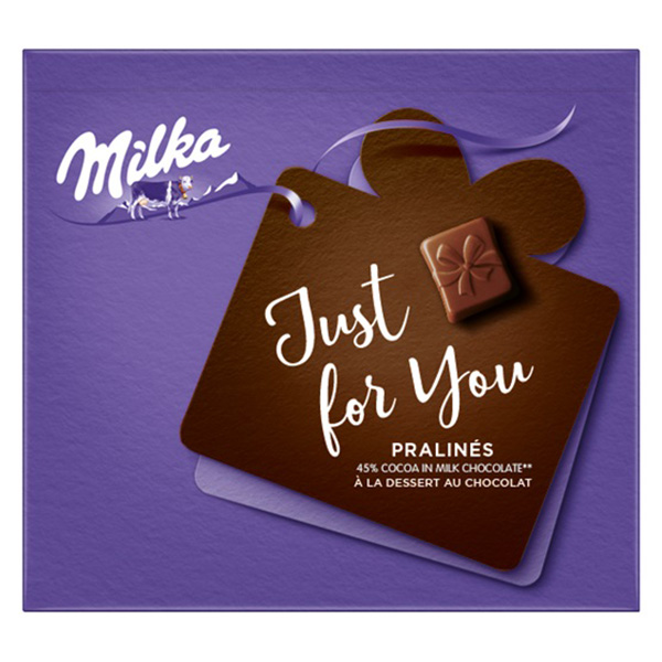 Шоколадови бонбони MIlka екстра какао Just for You 110гр.