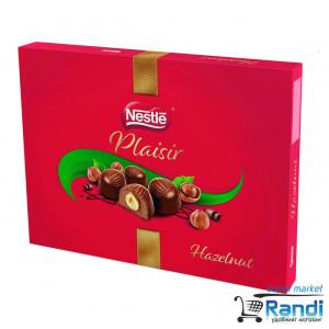 Шоколадови бонбони с лешник Plaisir Nestle 154гр.