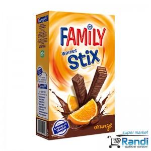 Мини вафли Family Stix портокал 155гр.