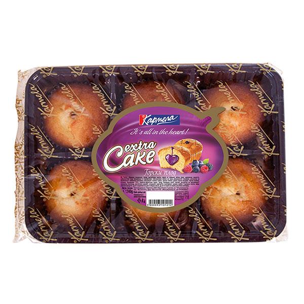 Кексчета Карамела Extra Cake горски плод 240гр.