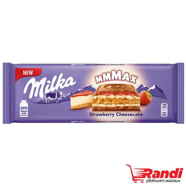 Шоколад Milka Strawberry Cheesecake 300гр.