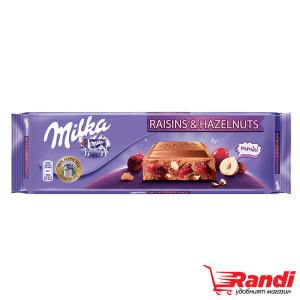 Шоколад Milka стафиди и лешници 270гр.