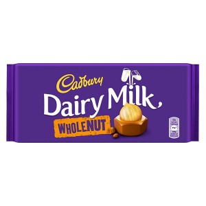Шоколад Cadbury Wholenut 200гр.