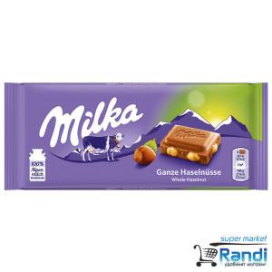 Шоколад Milka цели лешници 100гр.