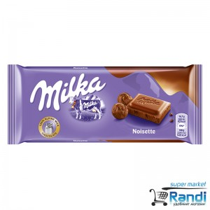 Шоколад Milka нойзет 100гр.