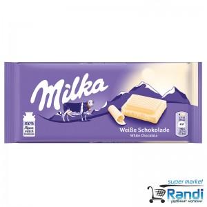 Шоколад Milka бял 100гр.