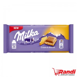 Шоколад Milka Cream & Biscuit 100гр.