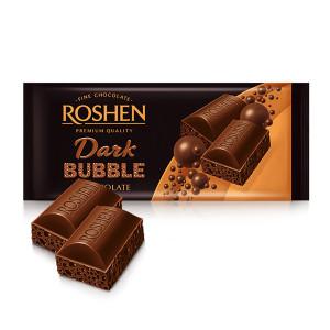 Шоколад Черен Roshen bubble 80гр.