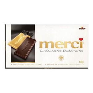 Шоколад Merci черен 72% 100гр.