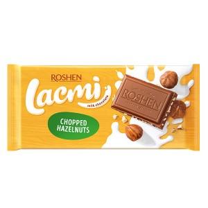 Шоколад Roshen Lacmi млечен с натрошен лешник 90гр.