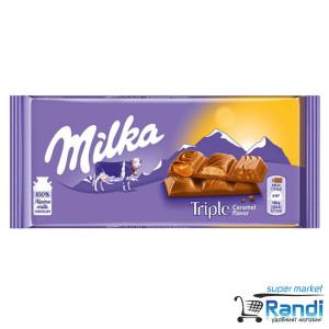 Шоколад Milka Triple Caramel 90гр.