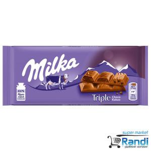 Шоколад Milka Triple Choco Cocoa 90гр.