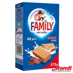 Мини вафли Family с какаов крем 375гр.