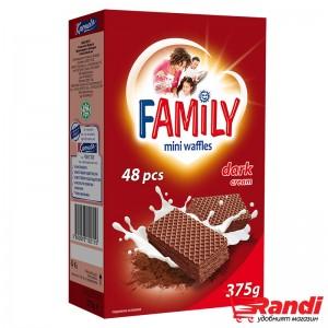 Мини вафли Family Dark cocoa 375гр.