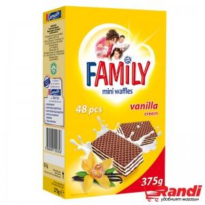 Мини-вафли Family ванилия 375гр.