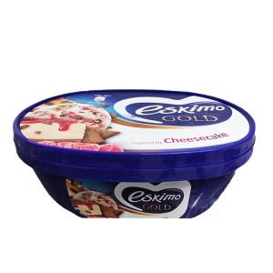 Сладолед Eskimo Gold Cheesecake с малинов сироп 900мл.