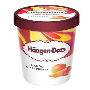 Сладолед Манго и малина Haagen Dazs 460мл.